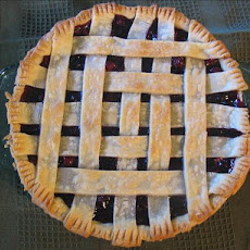 Blue Ribbon Cranberry Blueberry Pie