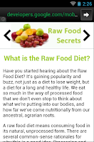 Screenshot of Raw Food Secrets