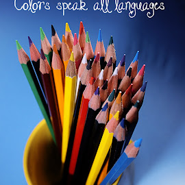 Colors speak all languages by Dave Bernard - Typography Words (  )