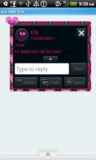 GO SMS THEME BlackNPink4U