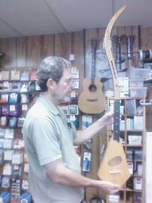 Jim Craig of Hogeye Music in Evanston, IL shows a Polk-A-Lay-Lee