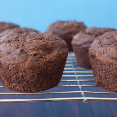 Oil-Free Chocolate Zucchini Walnut Muffins