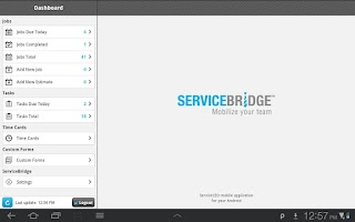 Screenshot of ServiceBridge