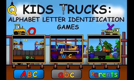 Kids Trucks: Alphabet Games