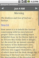 Screenshot of Spurgeon Devotional