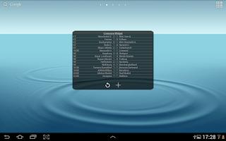 Screenshot of Football Livescore Widget