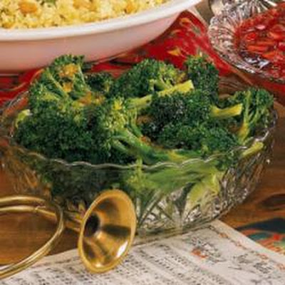 Broccoli with Ginger-Orange Butter