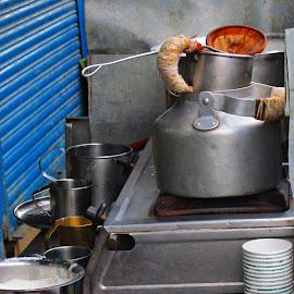 tea maker by Venkat Krish - Artistic Objects Cups, Plates & Utensils ( #tea #drink #milk #street #utensils )