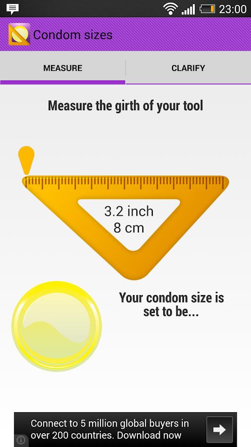 Condom sizes inches