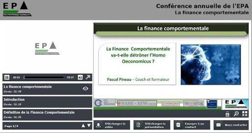 Conférence 2 : La finance comportementale va-t-elle détrôner l'Homo Oeconomicus ?
