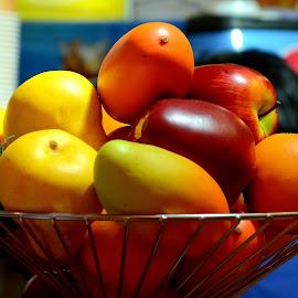 Have it by Sanjeev Goyal - Food & Drink Fruits & Vegetables ( orange, melon, apple, musk, mango )