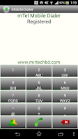Screenshot of mTel Mobile Dialer