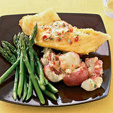 Buttery Halibut with Smashed Potatoes