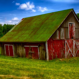 The Lone Barn! by Fred Herring - Buildings & Architecture Other Exteriors