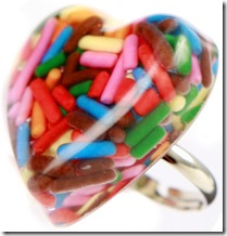 sprinkle heart ring