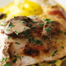 Rabbit With Mustard And Mushroom