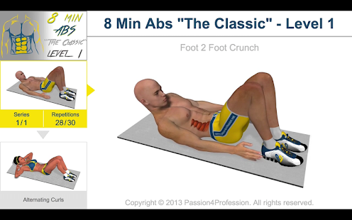 App 8 Minutes Abs Workout version 2015 APK