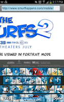 Screenshot of The Smurfs 2 Keyboard