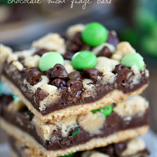 Chocolate Mint Fudge Bars