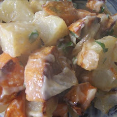 Low Fat Roasted Sweet Potato Salad