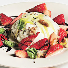 Burrata, Strawberry, and Basil Salad