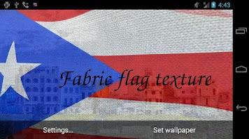Screenshot of 3D Puerto Rico Flag LWP