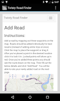 Screenshot of Twisty Road Finder