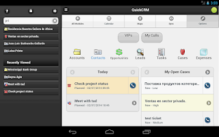 Screenshot of QuickCRM for SugarCRM/SuiteCRM