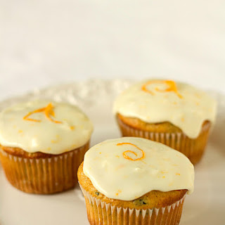 Zucchini-Pineapple Cupcakes with Orange Sour Cream Frosting