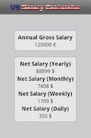 Screenshot of US Salary Calculator