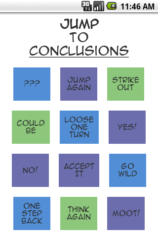 Jump to Conclusions App