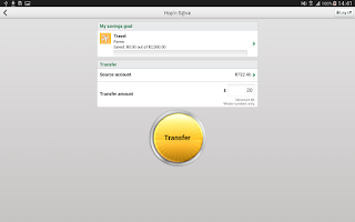 Screenshot of Desjardins mobile services