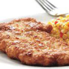 Pork Schnitzel and Creamy Corn