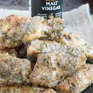Oven Fried Salt and Vinegar Chicken Wings