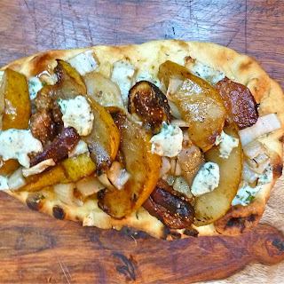 Grilled Pear, Fig and Endive Flatbread with Blue Cheese