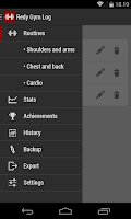 Screenshot of Redy Gym Log - Workout Tracker