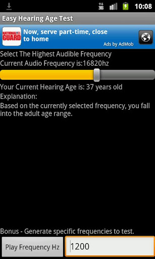 Easy Hearing Age Test