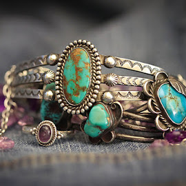 Turquoise And Silver by Molly Chalfin - Artistic Objects Jewelry ( turquoise, object, artistic, jewelry )