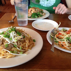 Pad Thai (gluten free) and Som Tam salad also gluten free