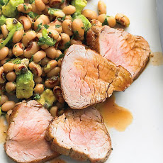 Broiled Pork Tenderloin with Black-Eyed-Pea Salad