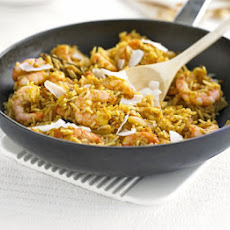 Spiced Prawn & Coconut Pilaf
