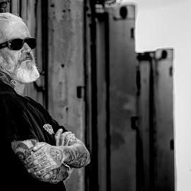 Heinz Chrom by Jonny Otten - People Body Art/Tattoos ( #portrait, #man, #tattoo, #black and white, person, people, tattoo )