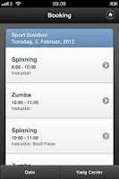 Screenshot of Sport Solution Booking
