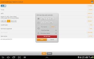 Screenshot of toodleTasks Tablet - Toodledo
