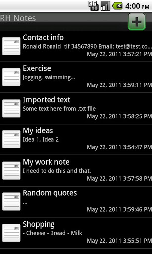 RH Notes
