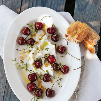 Sweet Cherries with Robiola Cheese