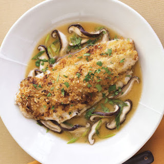 Ginger-Miso Striped Bass in Shiitake Mushroom Broth