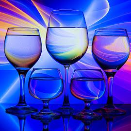 Hues of fantasy.... by Rakesh Syal - Artistic Objects Glass