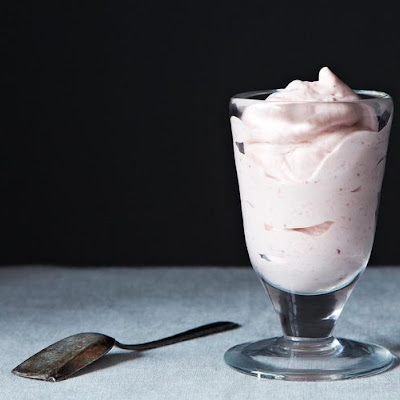 Strawberry Crème Fraîche Soft Serve