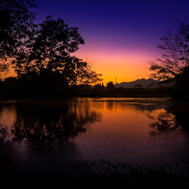 Hot Spring by Nang Ray - Landscapes Sunsets & Sunrises ( water, myanmar, sunset, hot water, tourism, hot spring, lashio )